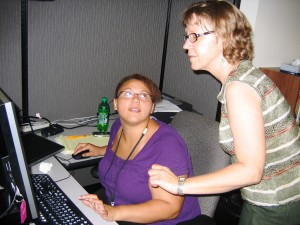 Access Technology Center student and instructor