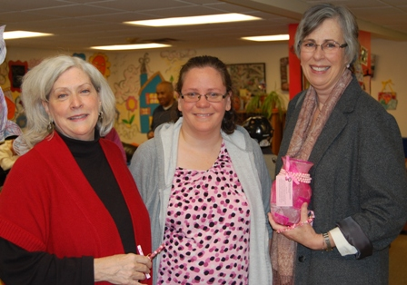 Susan B. Komen CEO Kathy Purcell with Mary Levino, BVRS, and Susan B. Komen Events Coordinator Julie Philp