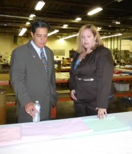 State Sen. Jay Costa and PBA Industries Director Tara Zimmerman.