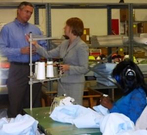 State Sen. Matt Smith and BVRS President Erika Arbogast.