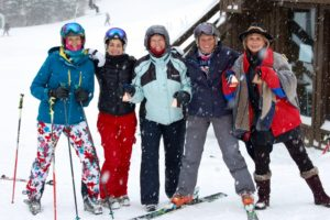willi's winter ski diva's at the bottom of the slope