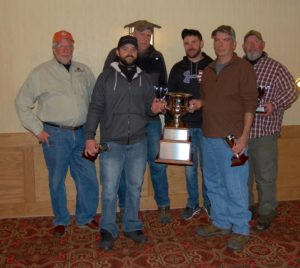 First Place Sporting Clays Team VIsta Metals receiving their trophy