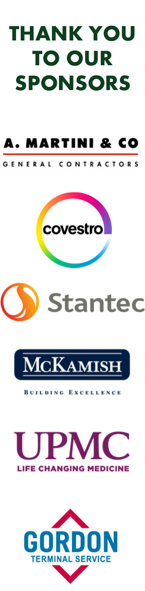 2018 Corporate Cup sponsor logos: A. Martini & Co., Covestro, Stantec, McKamish, UPMC and Gordon Terminal